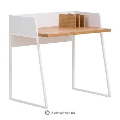 Бело-коричневый письменный стол (temahome) (целиком, в коробке)