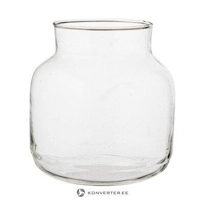Glass flower vase (urban nature culture) (healthy, sample)