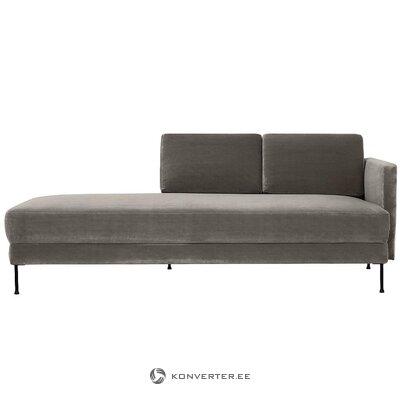 Pilka aksominė sofa (fluente)