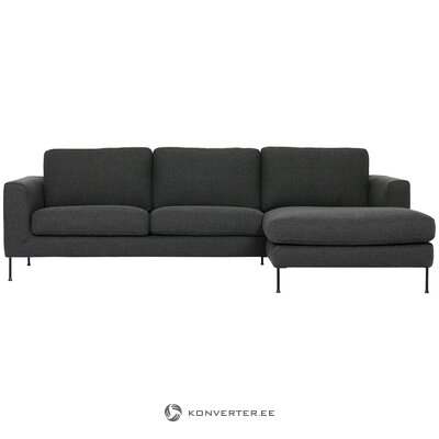 Dark gray corner sofa (cucita)