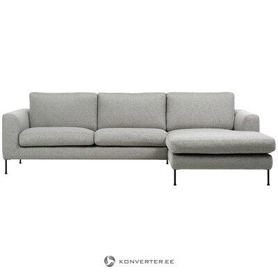 Šviesiai pilka kampinė sofa (cucita)