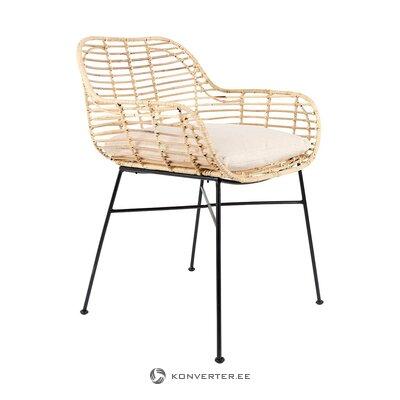 Садовый стул из ротанга (белый лейбл живой) (здоровый, в коробке)