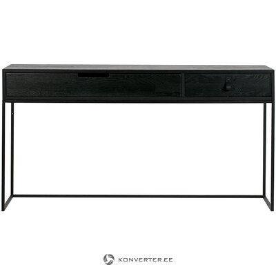 Black solid wood console table (woood)