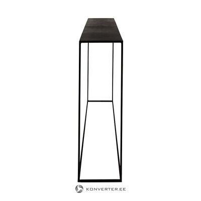 Black metal narrow console table expo (zago) (small flaws, hall sample)
