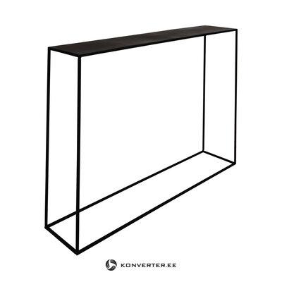 Juodojo metalo siauros konsolės stalo ekspozicija (zago) (visa, salės pavyzdys)