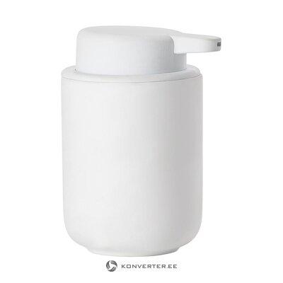Valkoinen saippua-annostelija (vyöhyke) (koko, salinäyte)
