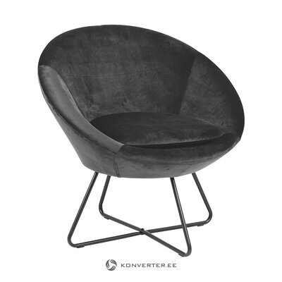 Dark gray design armchair (actona) (whole, in box)