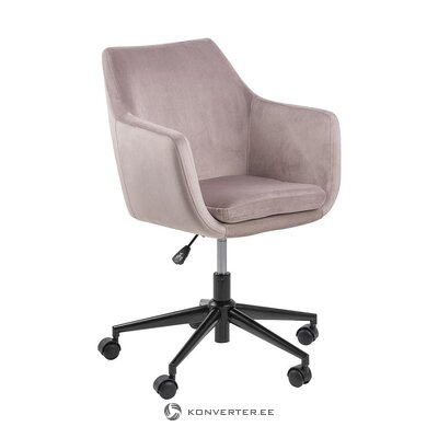 Pink velvet office chair (actona) (with beauty defects., Hall sample)