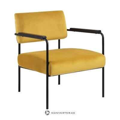 Dzelteni melns samta krēsls (actona) (vesels, zāles paraugs)