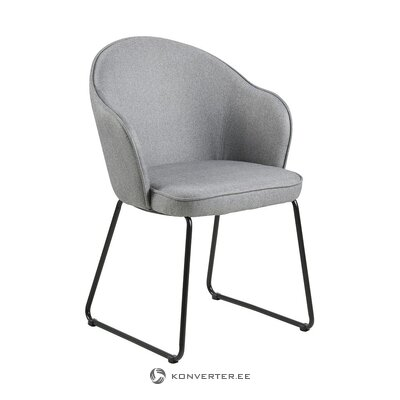 Light gray armchair (actona) (with beauty defects., Hall sample)