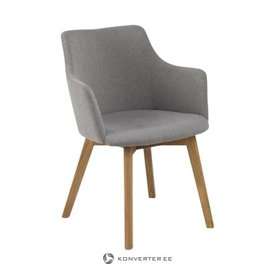 Light gray chair (actona) (with beauty defects., Hall sample)