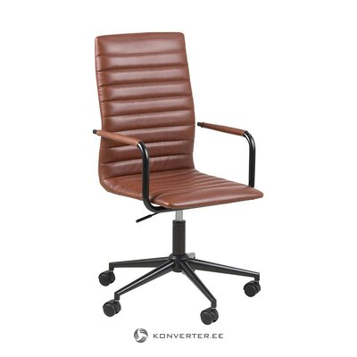 Brown leather office chair (winslow)