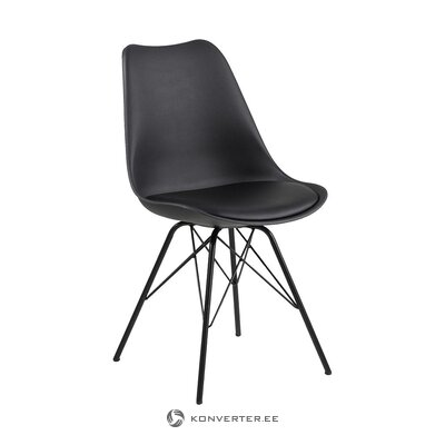 Black leather chair (actona) (hall sample)