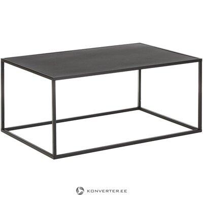 Musta metalli sohvapöytä