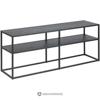 Metalinis juodas televizoriaus stovas (actona) (visas, dėžutėje)