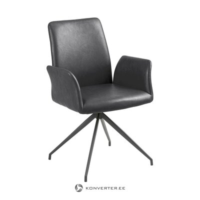 Leather upholstered chair (actona) (beauty defect, hall sample)