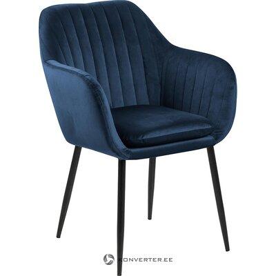 Blue-black velvet armchair (actona) (whole, in box)
