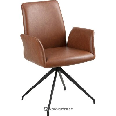 Brown-black swivel chair (actona) (hall sample, with beauty defects)