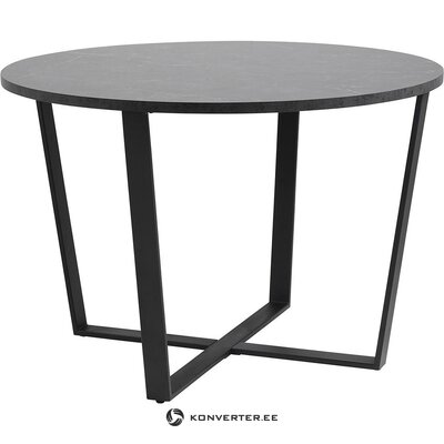 Marble imitation round dining table (actona)