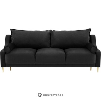 Black velvet sofa bed (besolux) (whole, in a box)
