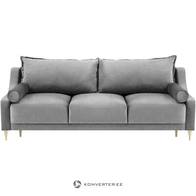 Gray velvet sofa bed (besolux)