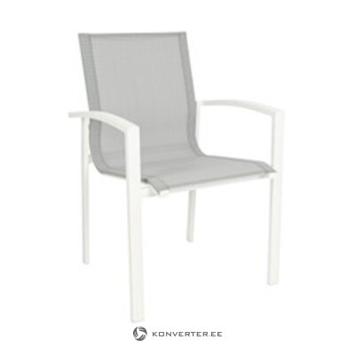 White garden chair (Atlantic) (whole, sample)