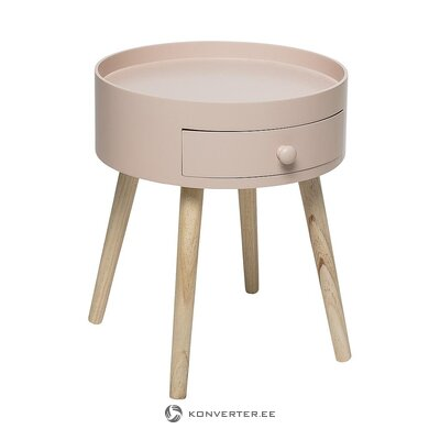 Pink-brown small coffee table (bloomingville)