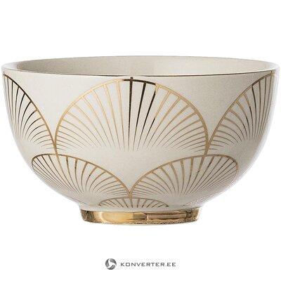 Beige-gold bowl set (2pcs) (bloomingville) (whole, in a box)