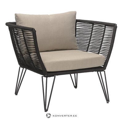 Black design garden chair (bloomingville) (healthy, sample)