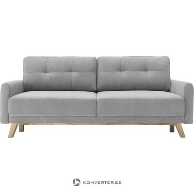 Gray velvet sofa bed (bobochic paris) (boxed)