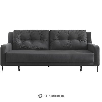 Gray-black velvet sofa bed (bobochic paris) (whole, in a box)