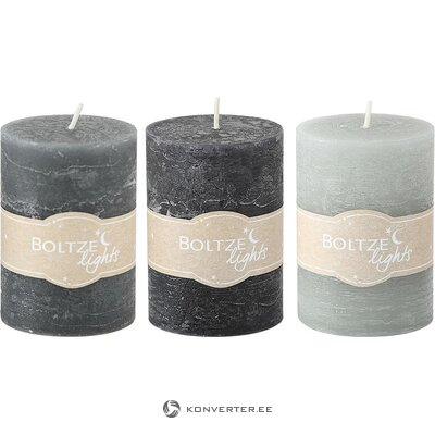 Set of candles 3-part (boltze) (hall sample, whole)