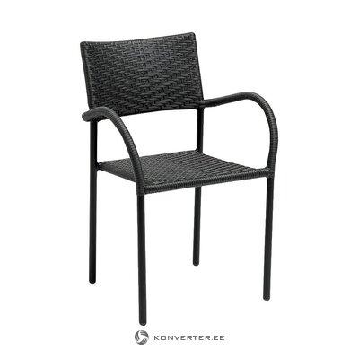 Dārza krēsls melnā krāsā