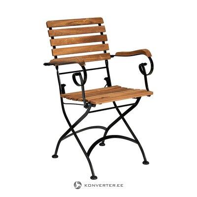 Складной садовый стул из массива дерева (дворецкий) (неповрежденный образец холла)