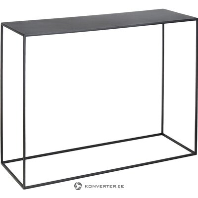 Black metal console table (customform) (whole, in box)