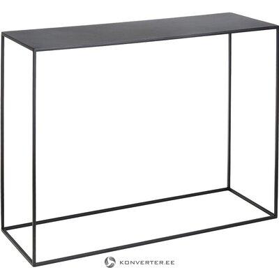 Консольный стол из черного металла (нестандартная форма) (мелкие жучки, образец зала)