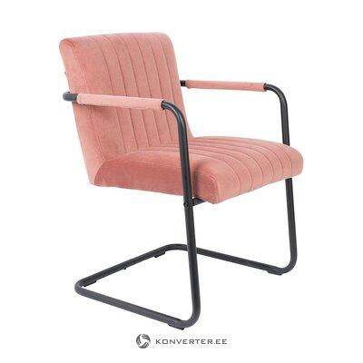 Rausvai juoda minkšta kėdė (olandų kaulai) (visa, dėžutėje)
