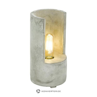 Concrete table lamp (eglo) (hall sample, with beauty defects)