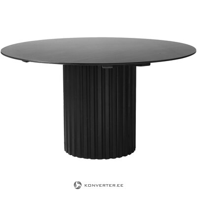 Black round dining table (hkliving) (with beauty defects, hall sample)