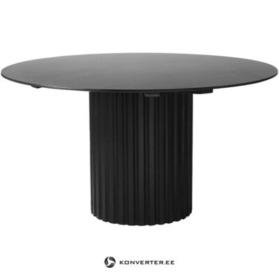 Black round dining table (hkliving) (with beauty defects. Hall sample)
