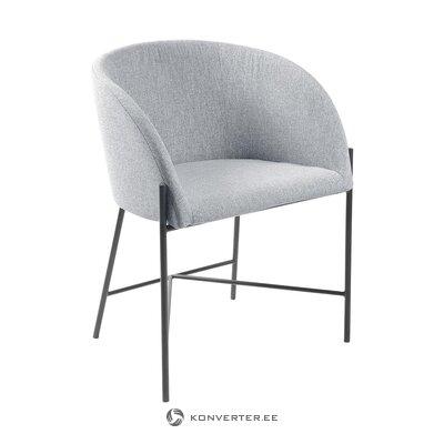 Gaiši pelēks-melns krēsls (interstil dänemark) (mazi trūkumi zāles paraugs)