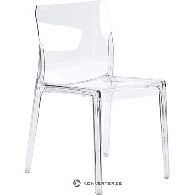 Transparent plastic garden chair (small flaws, hall sample)