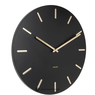 Black wall clock (Carlson) (whole, hall sample)
