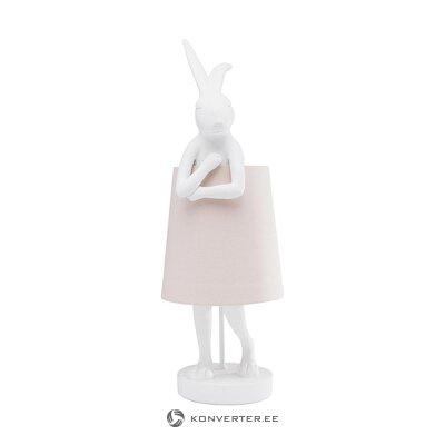 Light pink table lamp rabbit (rough design)