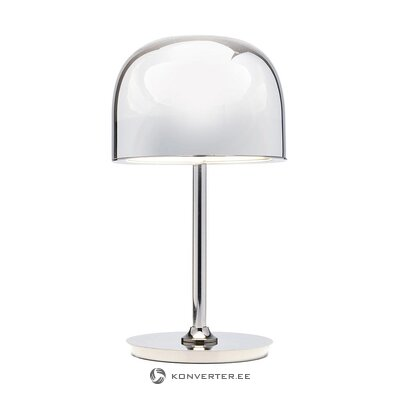 Silver led table lamp (rough design) (with flaw, hall sample)