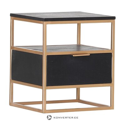 Musta-kultainen yöpöytä (ludwig gutmann) (kokonainen, laatikossa)