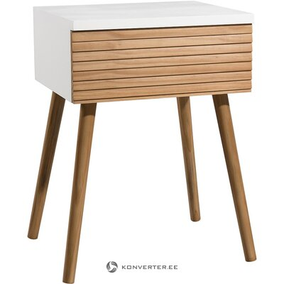 Brown and white nightstand (macabane) (whole, in a box)