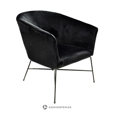 Black armchair (lady) (whole ,, hall sample)