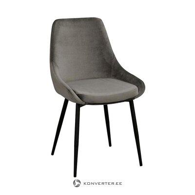 Pelēks samta krēsls (rowico) (vesels, paraugs)