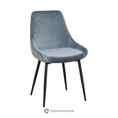 Blue-black velvet chair (rowico)